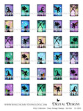 Fairy Collection - Faux Postage Stamps - Set One - DI-10050 - Digital Download