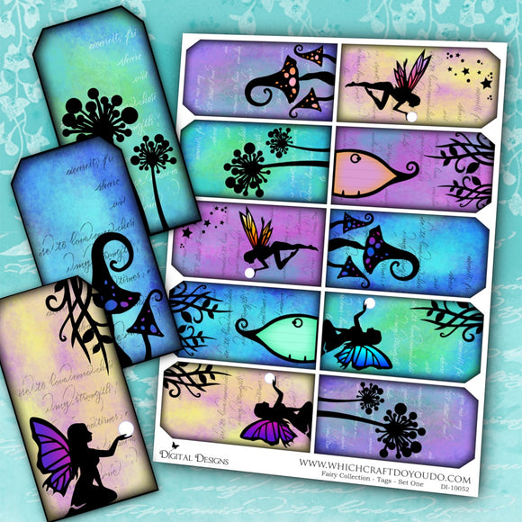 Fairy Collection - Tags - Set One - DI-10052 - Digital Download