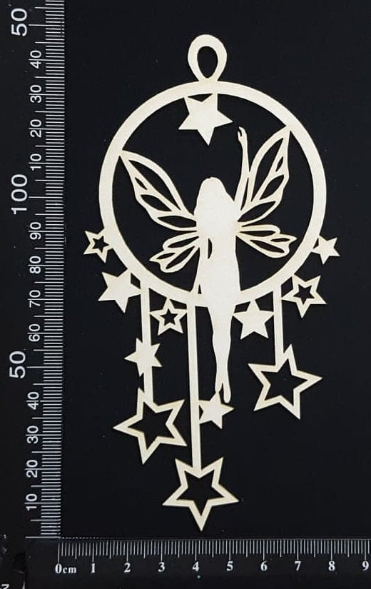 Fairy Dreamcatcher - D - White Chipboard