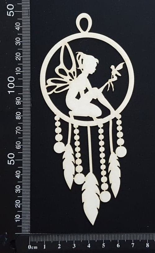 Fairy Dreamcatcher - F - White Chipboard