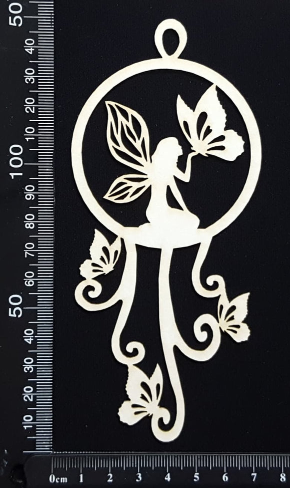 Fairy Dreamcatcher - G - White Chipboard