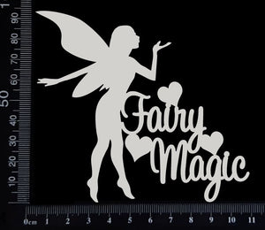 Fairy Title - Fairy Magic - White Chipboard