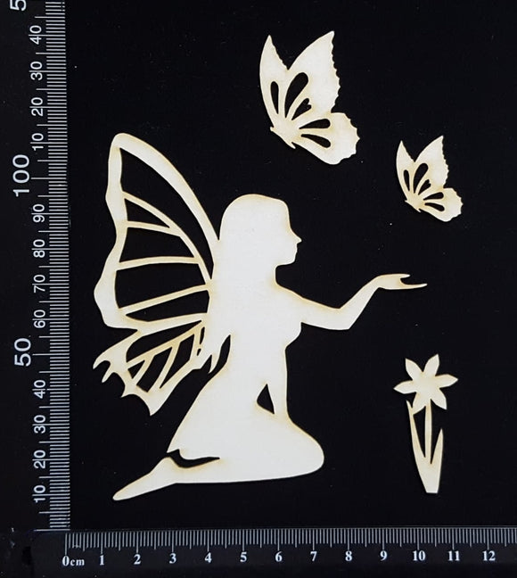 Fairy Set - AT - White Chipboard
