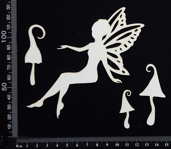 Fairy Set - AJ - White Chipboard