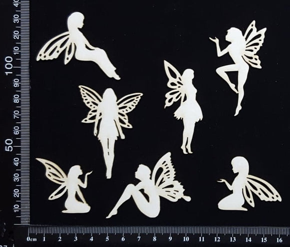 Fairy Set - FA - White Chipboard