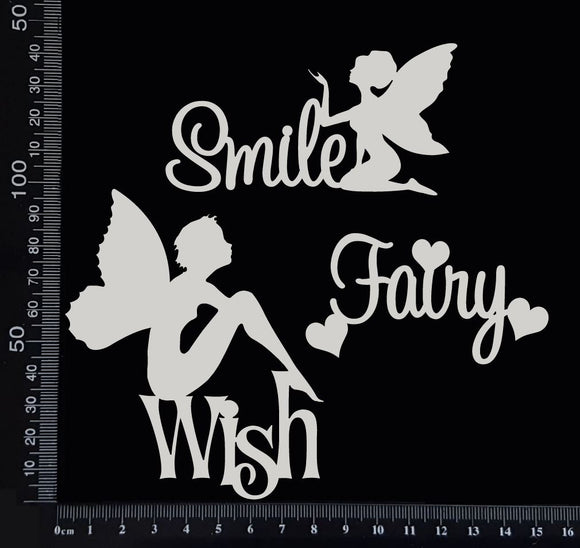 Fairy Word Set - A - White Chipboard
