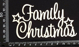 Family Christmas - White Chipboard