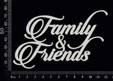 Family and Friends - B - White Chipboard