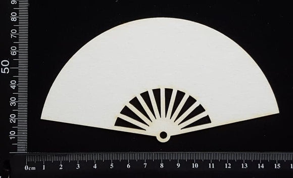 Fan - A - Large - White Chipboard