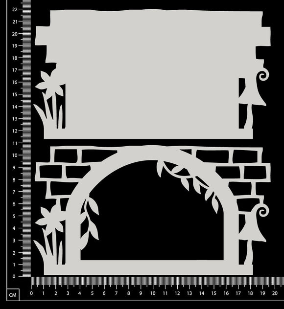 Fantasy Portal - AC - Large - Layering Set - White Chipboard