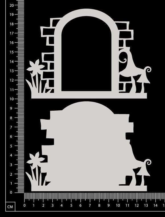 Fantasy Portal - CD - Small - Layering Set - White Chipboard