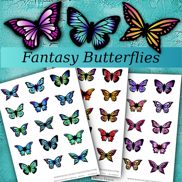 Fantasy Butterflies Collection - Set One - DI-10008 - Digital Download