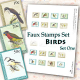 Faux Stamps Set - Birds - Set One - DI-10081 - Digital Download