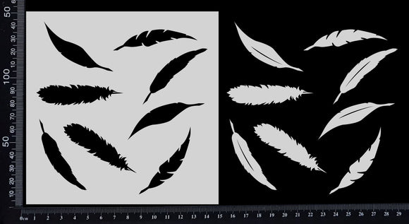 Feathers - Small - Stencil - 150mm x 150mm