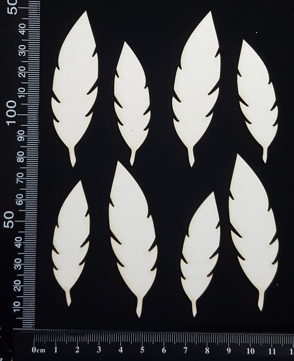 Feathers Set - A - White Chipboard