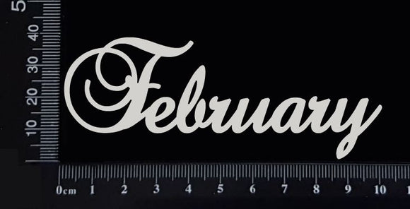 Elegant Word - February - White Chipboard