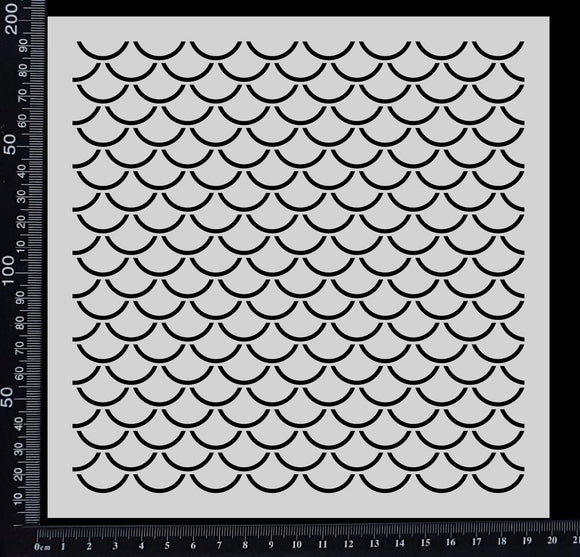 Fish Scales - Stencil - 200mm x 200mm