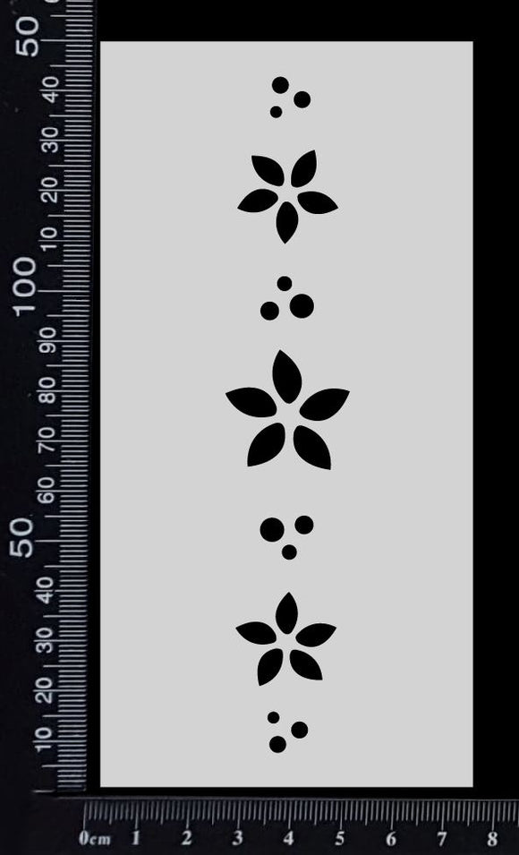 Flower Border - A - Stencil - 75mm x 150mm