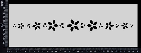 Flower Border - F - Stencil - 100mm x 300mm