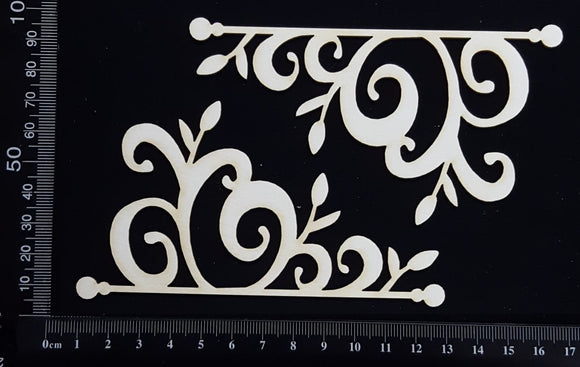Flower Bud  Flourish - A - White Chipboard
