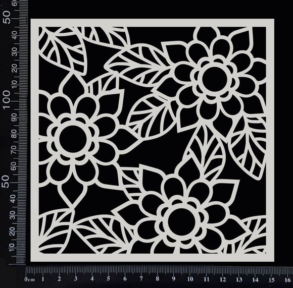 Flower Mesh - A - White Chipboard