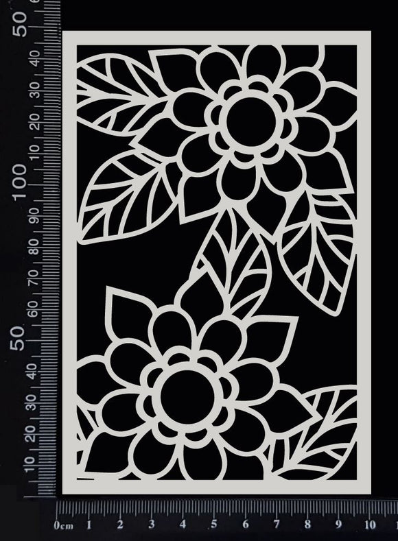 Flower Mesh - B - White Chipboard
