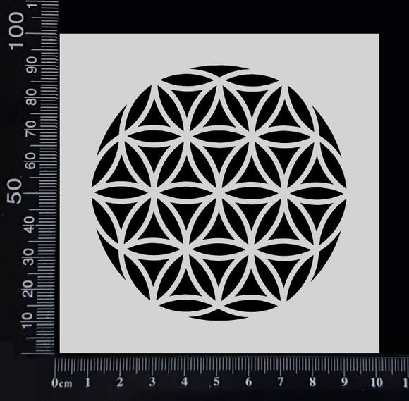 Flower of Life - A - Stencil - 100mm x 100mm