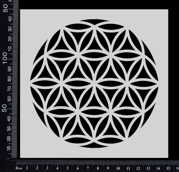Flower of Life - A - Stencil - 150mm x 150mm