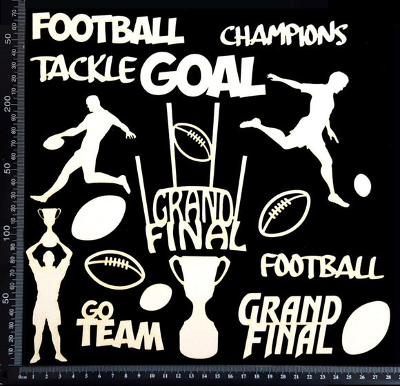 Football Elements Set - A - White Chipboard