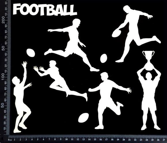 Football Elements Set - B - White Chipboard
