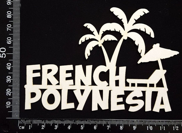 French Polynesia - A - White Chipboard