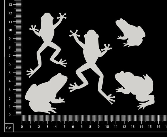 Frogs Set - White Chipboard