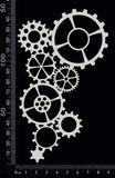 Gear Cluster - A - White Chipboard