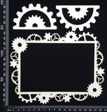 Gear Frame Set - A - White Chipboard