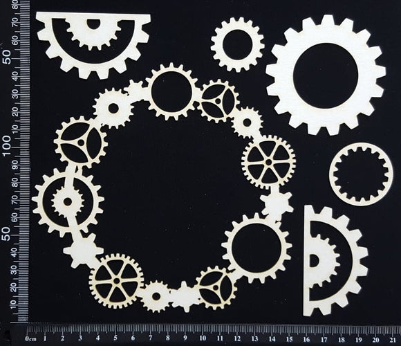 Gear Frame Set - E - White Chipboard