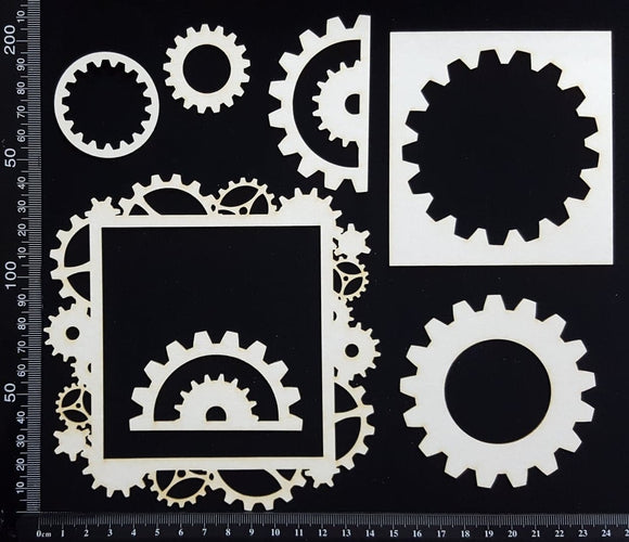 Gear Frame Set - F - White Chipboard