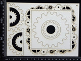 Gear Frame Set - H - White Chipboard