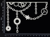 Gear and Chain Border - D - White Chipboard