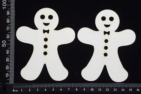 Gingerbread Man Set - A - White Chipboard