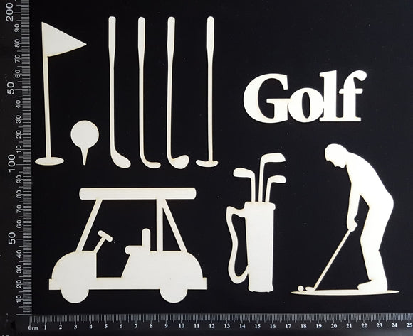 Golf Set - White Chipboard
