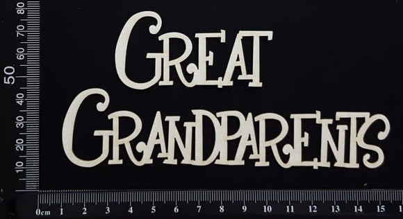 Great Grandparents - White Chipboard
