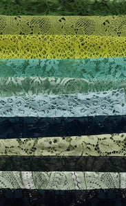 Assorted Lace Pack - Shades of Green