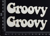 Groovy - Set of 2 - White Chipboard