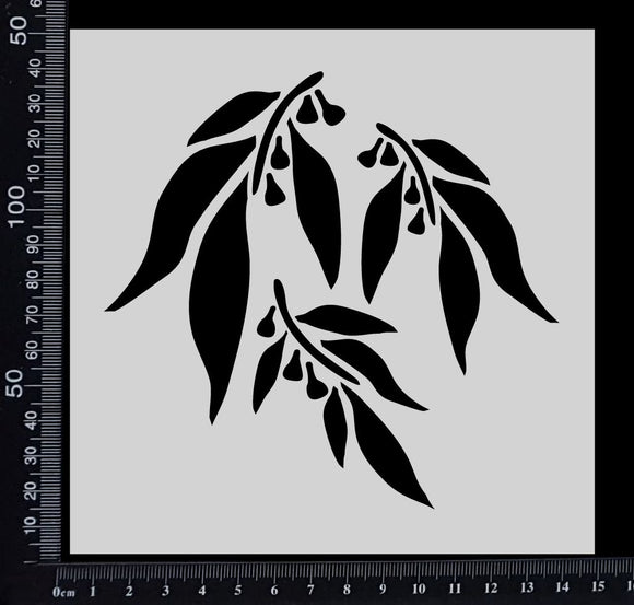 Gum Leaves - Stencil - 150mm x 150mm