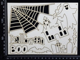 Halloween Elements Set - A - White Chipboard
