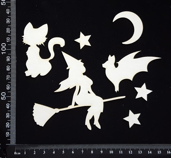 Halloween Elements Set - C - White Chipboard