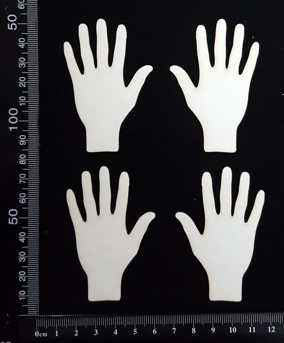 Hand Set - C - Small - White Chipboard