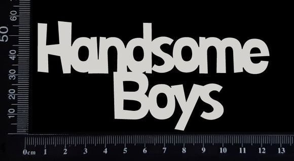 Handsome Boys - A - Large - White Chipboard