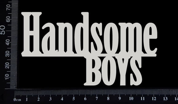 Handsome Boys - B - Large - White Chipboard