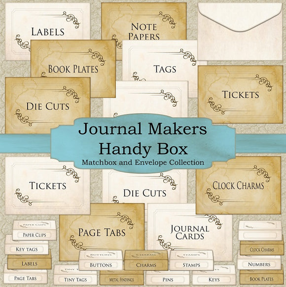 Journal Makers Handy Box - Matchbox and Envelope Collection - Set One - DI-10003 - Digital Download